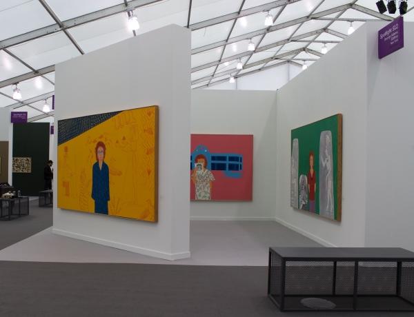 Installation View, Joan Brown, Frieze New York, George Adams Gallery, New York, 2019.