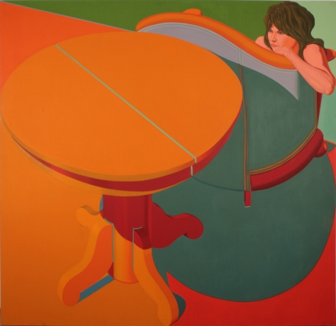 Jack Beal, Sondra with Table #2, 1970.
