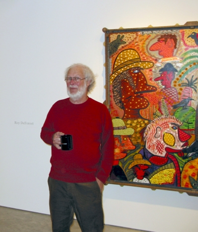 Roy De Forest at the gallery, December 2005.