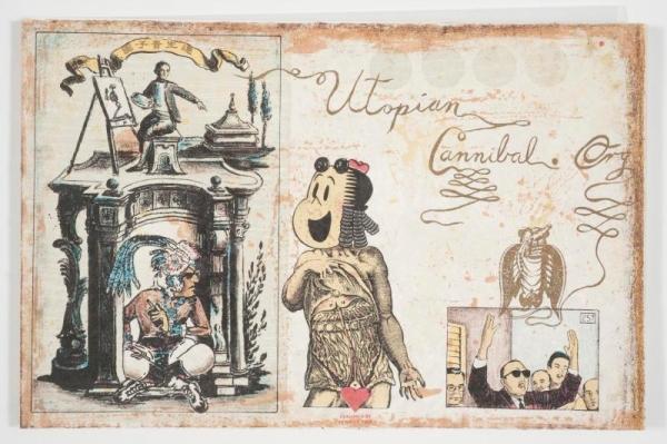 detail of Enrique Chagoya's 2000 codex 'utopiancannibals.org'