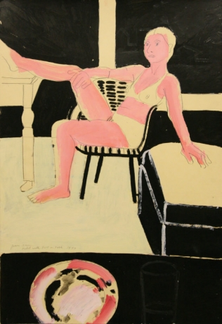 Joan Brown, Model with Foot on Table, 1973.