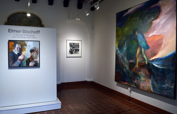 Installation view, Elmer Bischoff, A Survey of Paintings and Drawings, 1937-72, Marin Museum of Contemporary Art, Marin, CA, 2020.