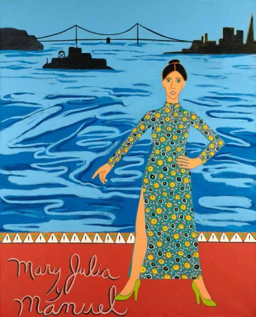 Joan Brown, 'Mary Julia y Manuel' 1976