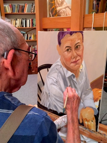 Artsy editorial on Musing by Helene Verin.  Sitting for a portrait by Philip Pearlstein