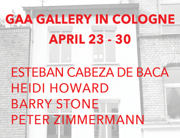 Spring 2017 at Gaa Gallery Project Space Cologne