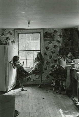 Three Girls in Kitchen, Kentucky, 1964 Gelatin silver print; printed c.1964 Image size: 10 5/8 x 7 1/4 inches