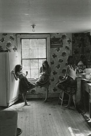 Three Girls in Kitchen, Kentucky, 1964 Gelatin silver print; printed c.1964 Image size: 10 5/8 x 7 1/4 inches