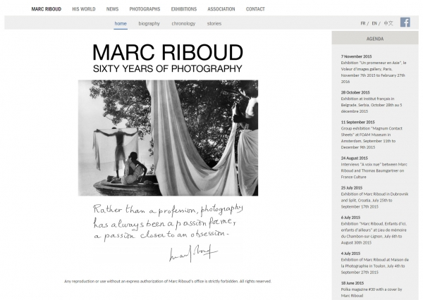 New Marc Riboud Website