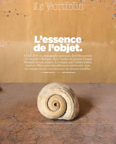 Morandi's Objects featured in Le Monde Magazine M