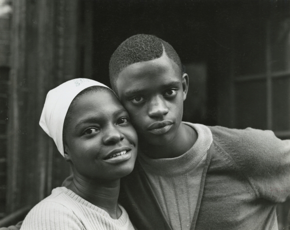 Bruce Davidson, East 100th Street, 1966-1968, Young Couple, Howard Greenberg Gallery, 2019