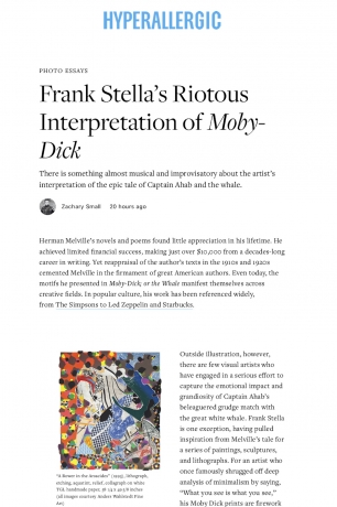 Hyperallergic: Frank Stella's Riotous Interpretation of Moby Dick