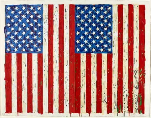 Jasper Johns Flags I print worth at least $1m donated to British Museum