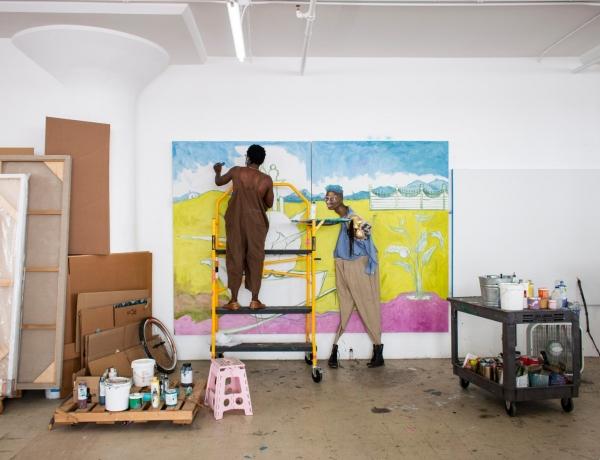 Virtual Studio Visit with artist Simphiwe Ndzube and Laura Almeida