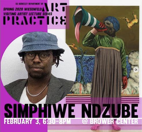 Simphiwe Ndzube at the UC Berkeley Wiesenfeld Visiting Artist Lecture Series
