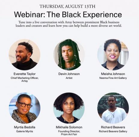 Devin B. Johnson in 'The Black Experience,' a webinar by Artsy