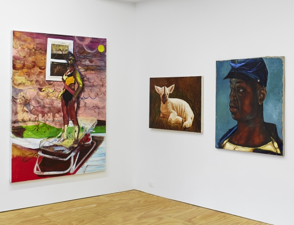 Mosie Romney and Katherina Olschbaur in 'Friend Zone' curated by Vaughn Spann