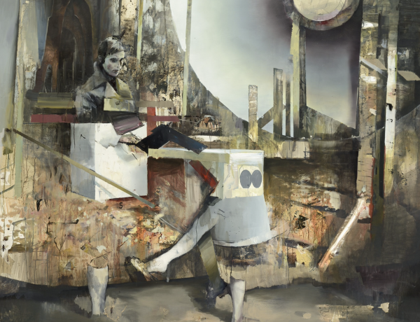 Serban Savu and Daniel Pitín in 'FIGURATIVE IMPERATIVE: Contemporary European Painting from Collection of Robert Runták'