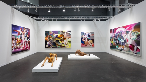 Isabelle Albuquerque and Katherina Olschbaur at The Armory Show