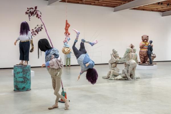 Simphiwe Ndzube in 'People' at Jeffrey Deitch Projects, Los Angeles