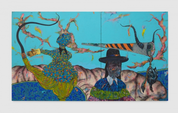 Congratulations to the HOW Art Museum in Shanghai for their recent acquisition of a major Simphiwe Ndzube diptych