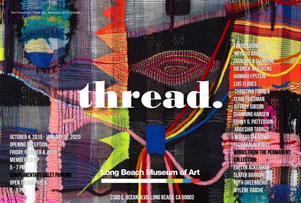 Moffat Takadiwa in 'Thread.' at the Long Beach Museum of Art
