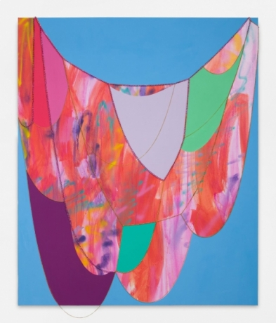 """Sarah Cain in """"RED"""", an online group exhibition by Galerie Lelong & Co."""