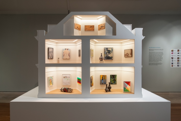 """Caragh Thuring in """"Masterpieces in Miniature: The 2021 Model Art Gallery,"""" at Pallant House Gallery, Chichester"""