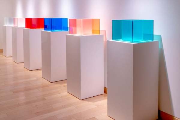 """""""Larry Bell: Hocus, Focus and 12"""" at the Harwood Museum of Art"""