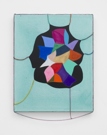 """Sarah Cain in """"Driving Forces: Contemporary Art from the Collection of Ann and Ron Pizzuti"""" at the Columbus Museum of Art"""