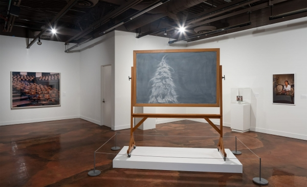 """Gary Simmons in """"Sanctuary: Recent Acquisitions to the Permanent Collection"""" at the California African American Museum, Los Angeles"""
