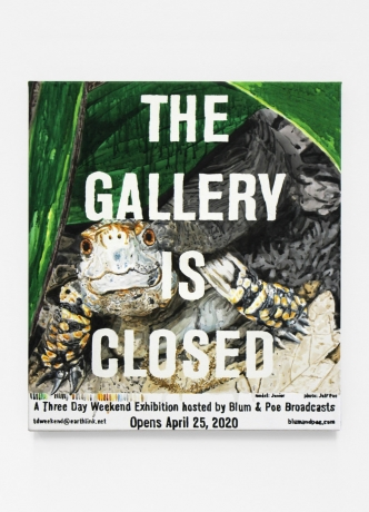 """Dave Muller in """"Broadcasts: Three Day Weekend Presents 'The Gallery is Closed'"""" an online exhibition by Blum and Poe"""