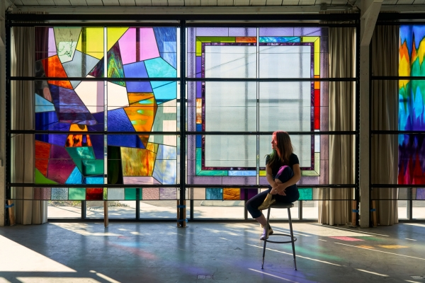 Sarah Cain's Stained-Glass Installation at San Francisco International Airport