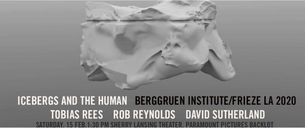 Artist Talk: Rob Reynolds at the Berggruen Institute, Los Angeles