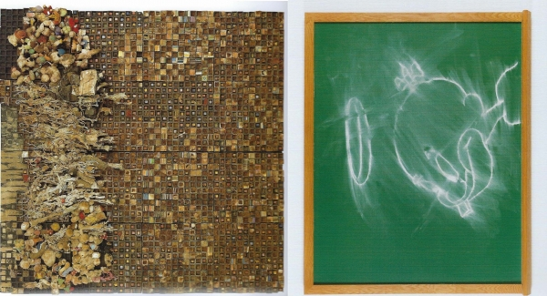 """Leonardo Drew and Gary Simmons in """"Black Refractions: Highlights from The Studio Museum in Harlem"""", opening 19 January at MOAD SF."""