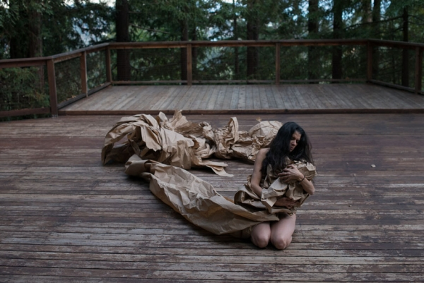 """Janine Antoni and Anna Halprin: Paper Dance"" at The Contemporary Austin"
