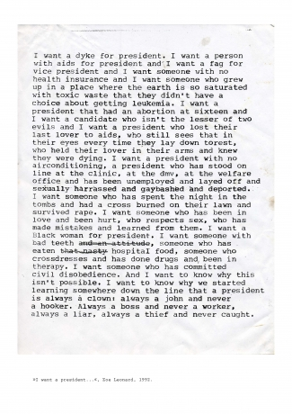 """Zoe Leonard in """"Elements of Vogue: A Case Study of Radical Performance"""" at the University Museum of Chopo, Mexico"""