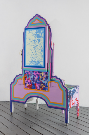 """Sarah Cain in """"Painting Architecture"""" at the Culver Center of the Arts"""