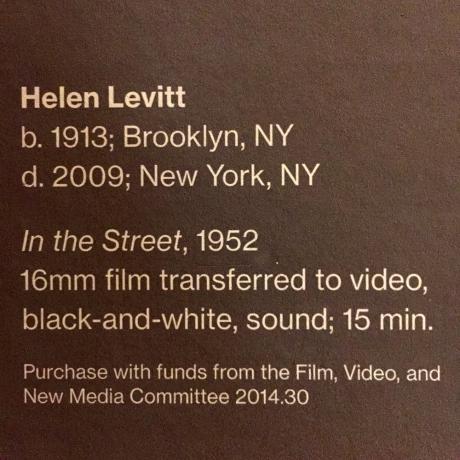 HELEN LEVITT AT THE WHITNEY