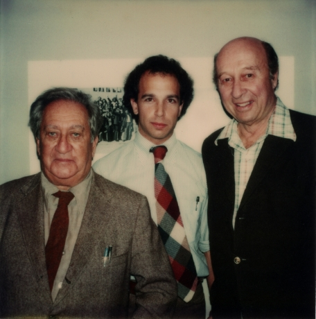 Larry Miller with Aaron Siskind and Harry Callahan