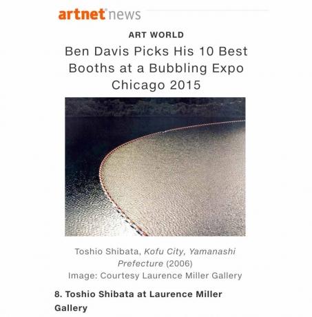 EXPO CHICAGO 2015 - ARTNET TOP 10