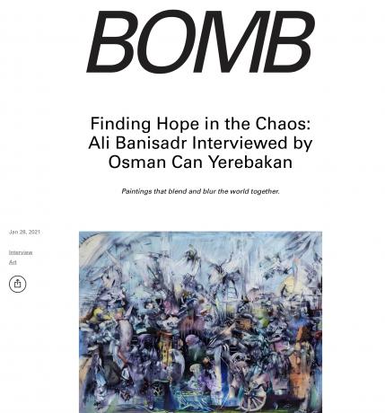 Ali Banisadr Interviewed by Osman Can Yerebakan, Bomb Magazine