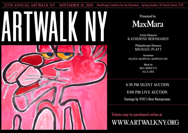 Cheryl Hazan Gallery co-hosts the 25th Annual ARTWALK NY to benefit Coalition for the Homeless