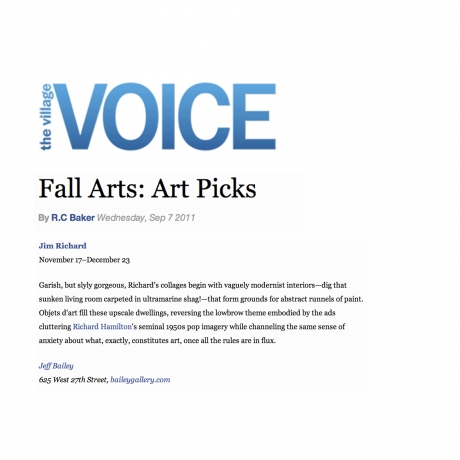 Fall Arts: Art Picks, Jim Richard