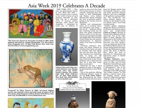 Asia Week Celebrates A Decade, 2019