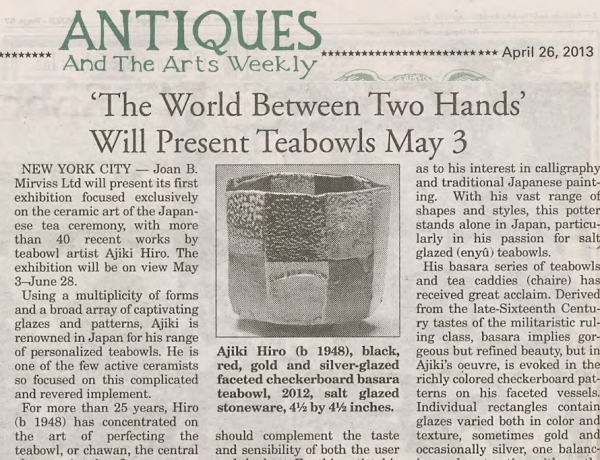 'The World Between Two Hands' Will Present Teabowls May 3