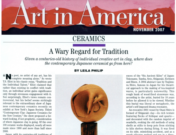 Art in America: A Weary Regard for Tradition