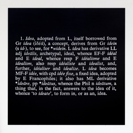 Joseph Kosuth in What Absence Is Made Of