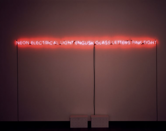 Joseph Kosuth in Power + Imagination: Conceptualism 1966-1976