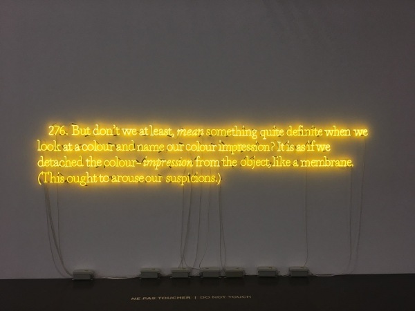 Joseph Kosuth in The Adventure of Color