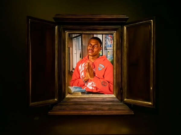 Kehinde Wiley, Joseph Kosuth and David Claerbout in Memling Now: Hans Memling in contemporary art